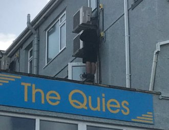 the Quies building - installation