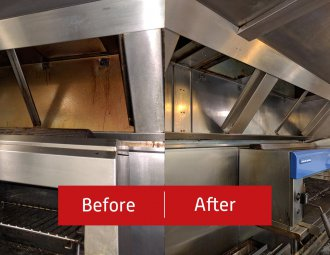 before and after ductwork