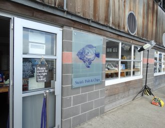 fish and chip shop exterior